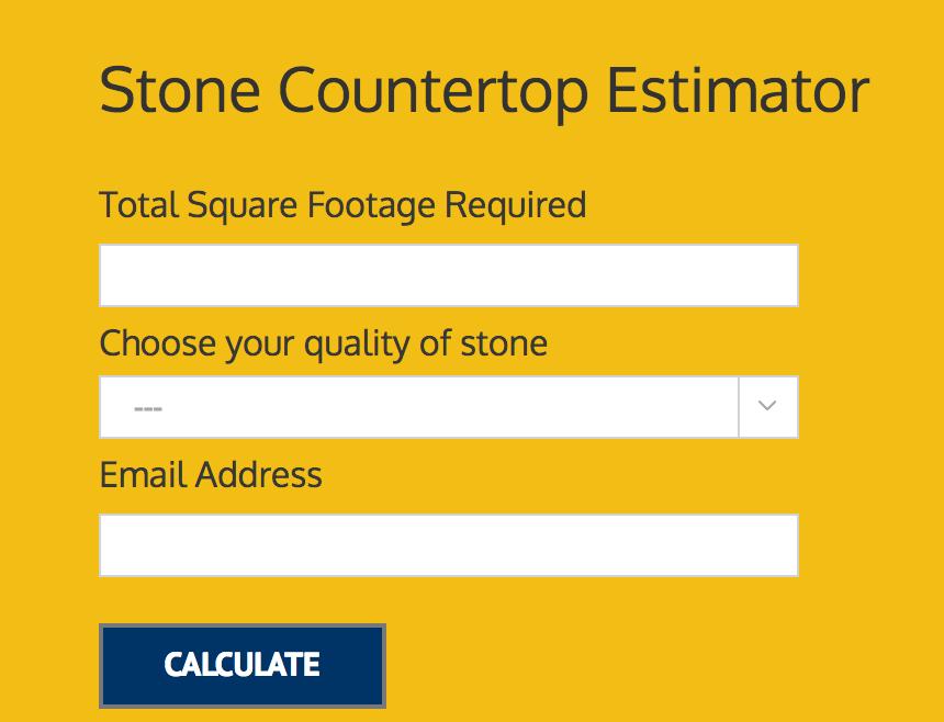 Countertop Estimator Tool