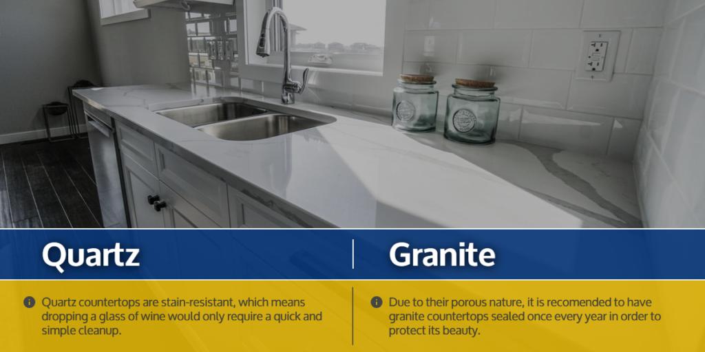 Upkeep of Quartz vs. Upkeep of Granite | quartz vs granite countertops | StoneSense