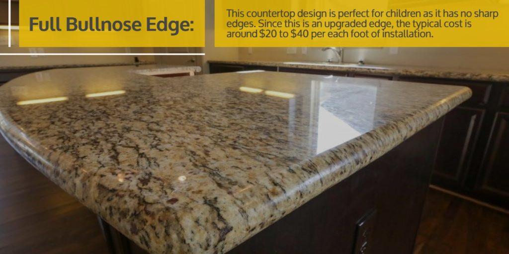 Full Bullnose Edge Stone Countertop | StoneSense
